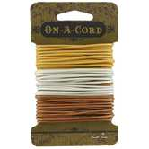 Gold, Silver & Copper Round Leather Cord Value Pack